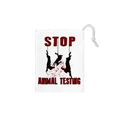 Stop Animal Testing   Rabbits  Drawstring Pouches (xs)