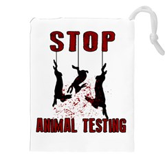 Stop Animal Testing   Rabbits  Drawstring Pouches (xxl)