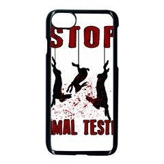 Stop Animal Testing   Rabbits  Apple Iphone 7 Seamless Case (black)