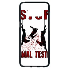 Stop Animal Testing   Rabbits  Samsung Galaxy S8 Black Seamless Case