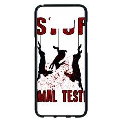 Stop Animal Testing   Rabbits  Samsung Galaxy S8 Plus Black Seamless Case