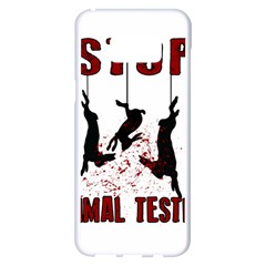 Stop Animal Testing   Rabbits  Samsung Galaxy S8 Plus White Seamless Case