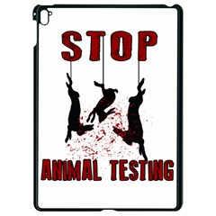 Stop Animal Testing   Rabbits  Apple Ipad Pro 9 7   Black Seamless Case