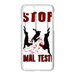 Stop Animal Testing   Rabbits  Apple Iphone 8 Seamless Case (white)