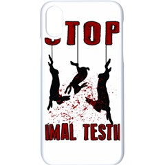 Stop Animal Testing   Rabbits  Apple Iphone X Seamless Case (white)