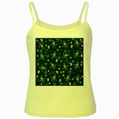 St Patricks Day Pattern Yellow Spaghetti Tank