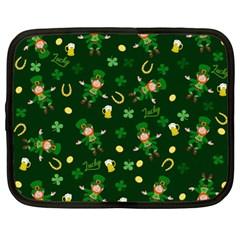 St Patricks Day Pattern Netbook Case (large)