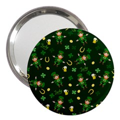 St Patricks Day Pattern 3  Handbag Mirrors