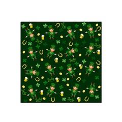 St Patricks Day Pattern Satin Bandana Scarf