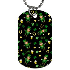 St Patricks Day Pattern Dog Tag (one Side)