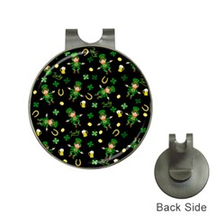 St Patricks Day Pattern Hat Clips With Golf Markers