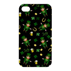 St Patricks Day Pattern Apple Iphone 4/4s Premium Hardshell Case