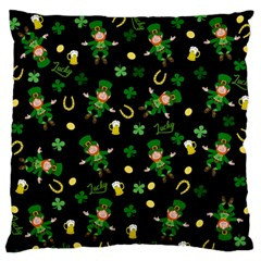 St Patricks Day Pattern Standard Flano Cushion Case (one Side)