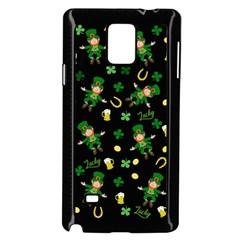 St Patricks Day Pattern Samsung Galaxy Note 4 Case (black)