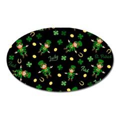 St Patricks Day Pattern Oval Magnet