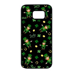 St Patricks Day Pattern Samsung Galaxy S7 Edge Black Seamless Case