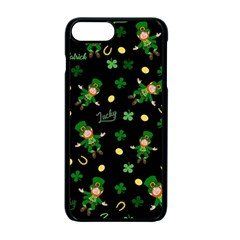 St Patricks Day Pattern Apple Iphone 7 Plus Seamless Case (black)
