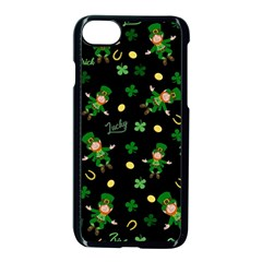 St Patricks Day Pattern Apple Iphone 7 Seamless Case (black)