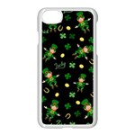 St Patricks day pattern Apple iPhone 7 Seamless Case (White) Front