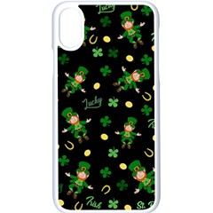 St Patricks Day Pattern Apple Iphone X Seamless Case (white)