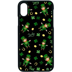 St Patricks Day Pattern Apple Iphone X Seamless Case (black)