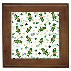 St Patricks Day Pattern Framed Tiles