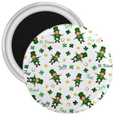 St Patricks Day Pattern 3  Magnets