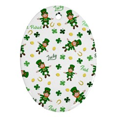 St Patricks Day Pattern Ornament (oval)