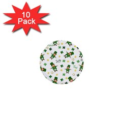 St Patricks Day Pattern 1  Mini Buttons (10 Pack)
