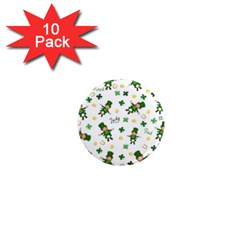 St Patricks Day Pattern 1  Mini Magnet (10 Pack)