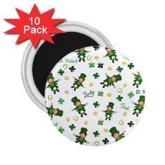 St Patricks Day Pattern 2 25  Magnets (10 Pack)