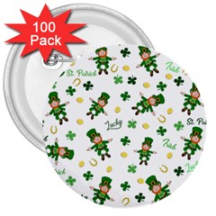 St Patricks Day Pattern 3  Buttons (100 Pack)