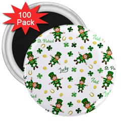 St Patricks Day Pattern 3  Magnets (100 Pack)