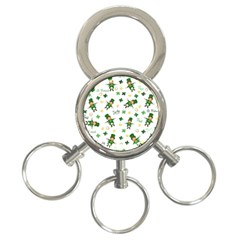 St Patricks Day Pattern 3 Ring Key Chains