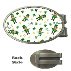 St Patricks Day Pattern Money Clips (oval)