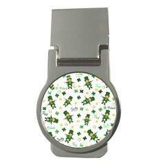 St Patricks Day Pattern Money Clips (round)