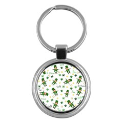 St Patricks Day Pattern Key Chains (round)
