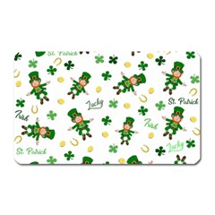 St Patricks Day Pattern Magnet (rectangular)