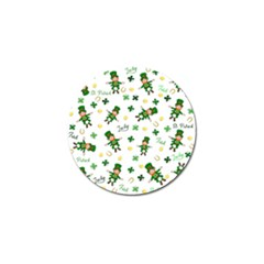 St Patricks Day Pattern Golf Ball Marker (4 Pack)
