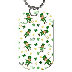 St Patricks Day Pattern Dog Tag (two Sides)