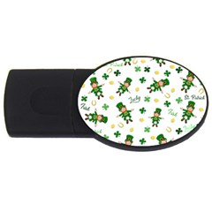 St Patricks Day Pattern Usb Flash Drive Oval (2 Gb)