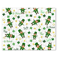 St Patricks Day Pattern Rectangular Jigsaw Puzzl