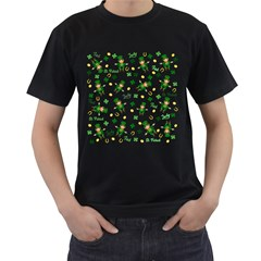 St Patricks Day Pattern Men s T Shirt (black) (two Sided)