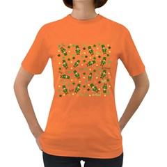 St Patricks Day Pattern Women s Dark T Shirt