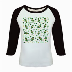 St Patricks Day Pattern Kids Baseball Jerseys