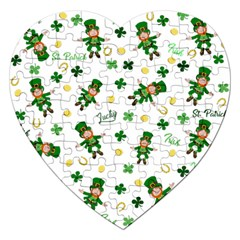 St Patricks Day Pattern Jigsaw Puzzle (heart)