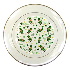 St Patricks Day Pattern Porcelain Plates