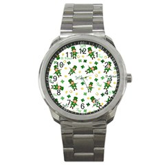 St Patricks Day Pattern Sport Metal Watch