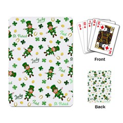 St Patricks Day Pattern Playing Card