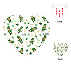 St Patricks Day Pattern Playing Cards (heart)